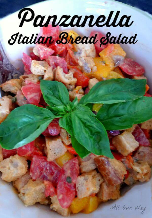 Panzanella a traditional Italian bread salad @allourway.com