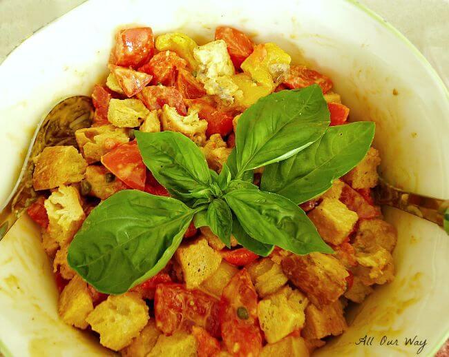 Panzanella a traditional Italian Bread Salad @allourway.com