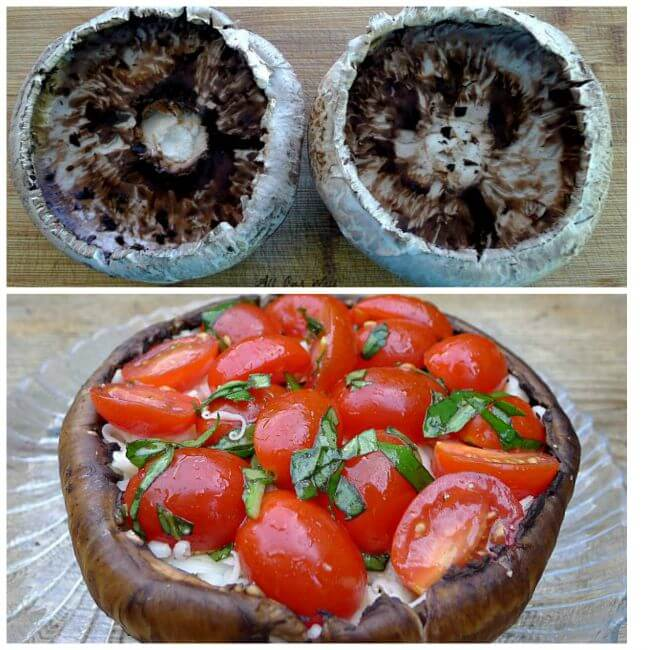 Grilled portobello mushroom alla cappers ready to put on grill @allourway.com