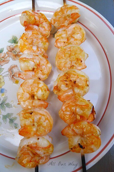 Grilled shrimp with nice color @allourway.com