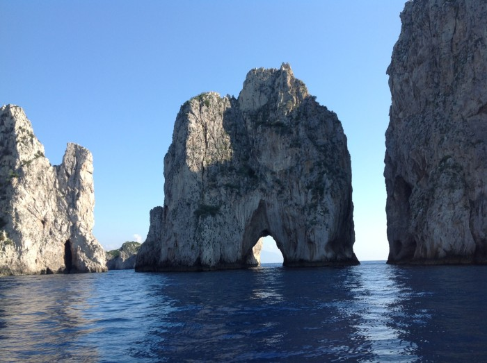 Faraglioni Rocks off of Capri as seen from out boat @allourway.com