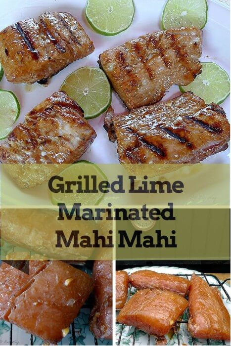 Grilled Lime Marinated Mahi Mahi is made flavorful and juicy by the marinade @allourway.com