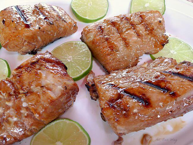 Grilled Lime Marinated Mahi Mahi is made juicy and flavorful with the help of the marinade @allourway.com