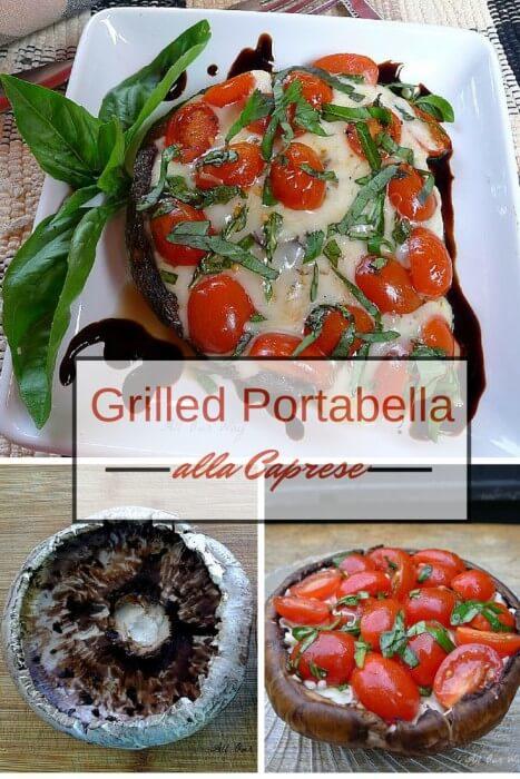Grilled Portabella alla caprese 3 basic steps @allourway.com