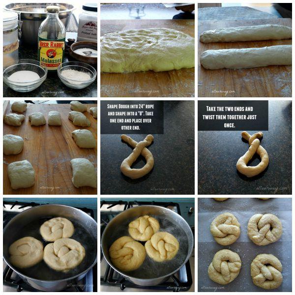 Soft Pretzel Step by Step tutorial @allourway.com