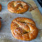 Soft Pretzel sprinkled with coarse pretzel salt nicely browned @allourway.com