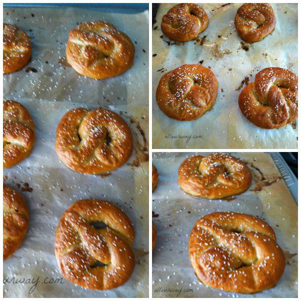 Soft Pretzels Sprinkled with Pretzel Salt Nicely Browned @allourway.com