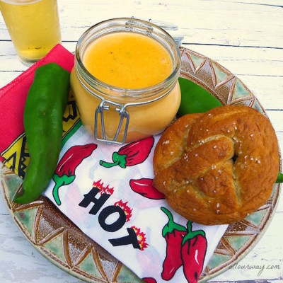Soft Pretzels with Spicy Cheese Dip