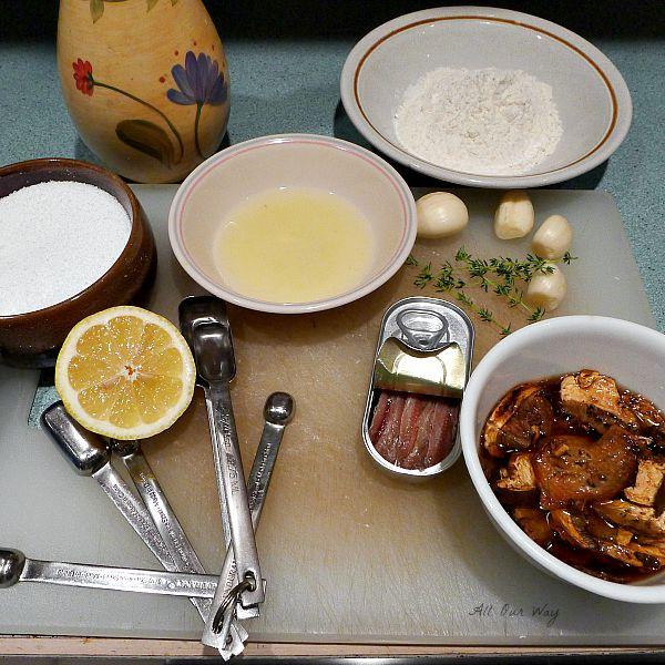 Tuna alla Genovese Ingredients for sauce @allourway.com