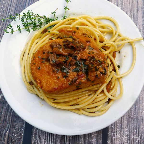 Tuna alla Genovese a one skillet dish that is quick with a complex-tasting sauce@allourway.com