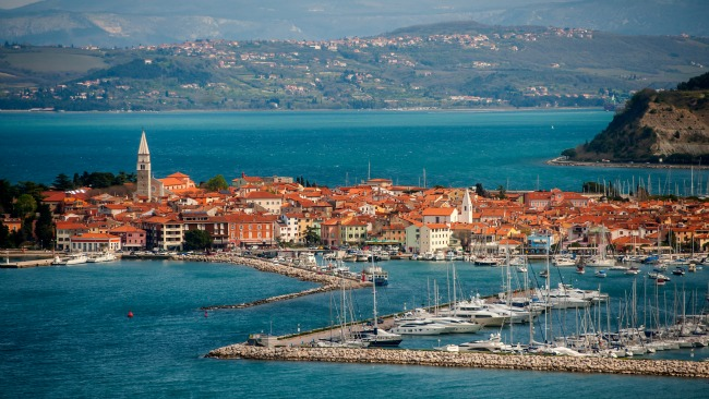 Isola D'Istria, Italy now considered Izola, Slovenia on the Adriatic Sea @allourway.com