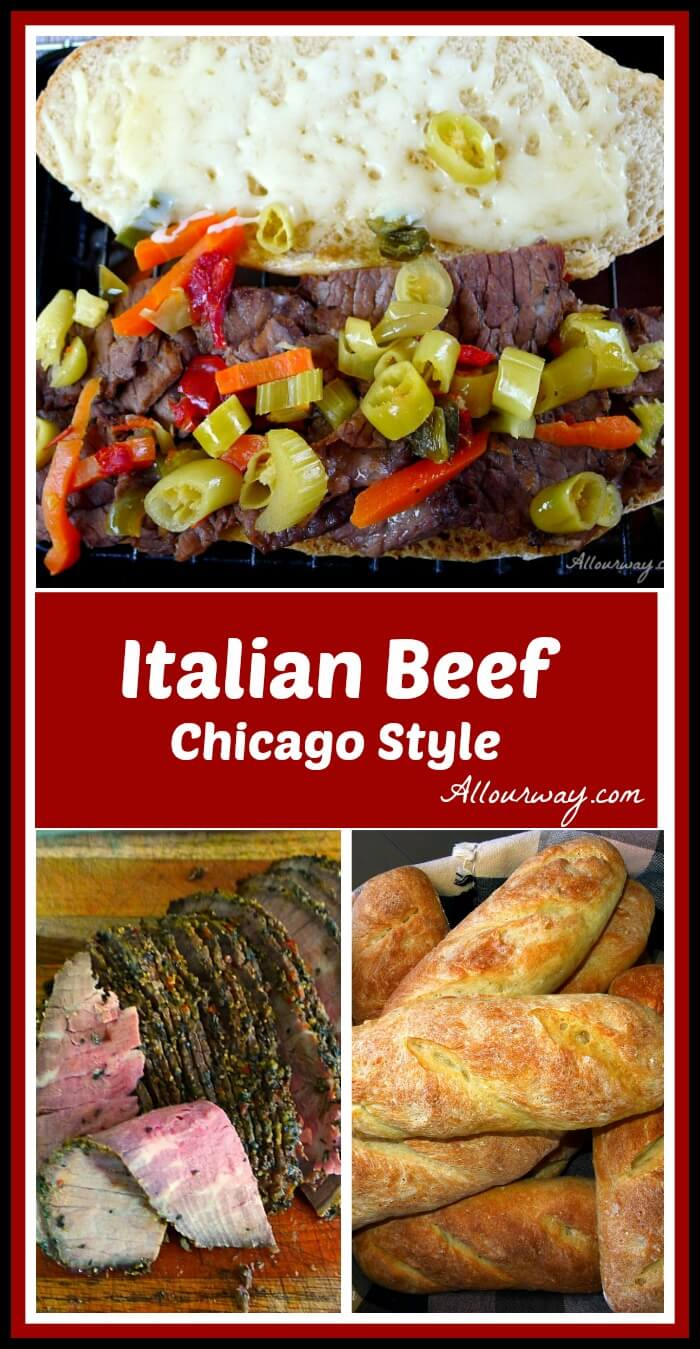 Italian Beef Chicago Style All Our Way Collage @allourway.com