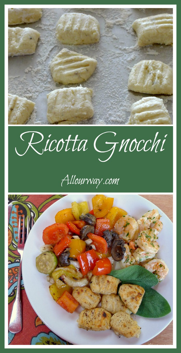 Ricotta Gnocchi Sauteed in Browned Butter Sage Sauce with Lemon @allourway.com