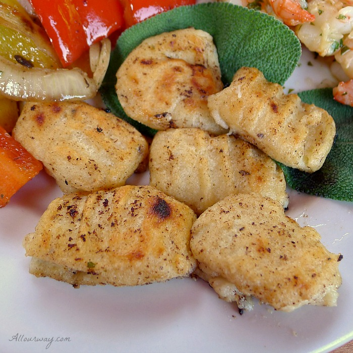 Ricotta Gnocchi are light as air dumplings that are sautéed in Butter and Sage Sauce @allourway.com