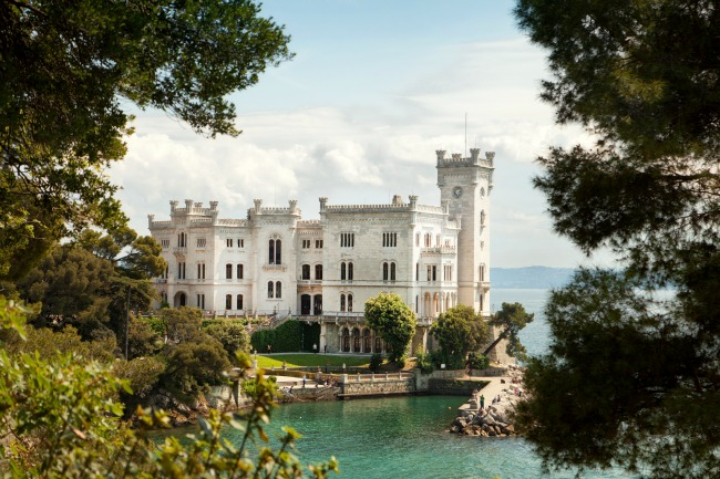 Castello di Miramare in Trieste, Italy on the Adriatic Sea @allourway.com