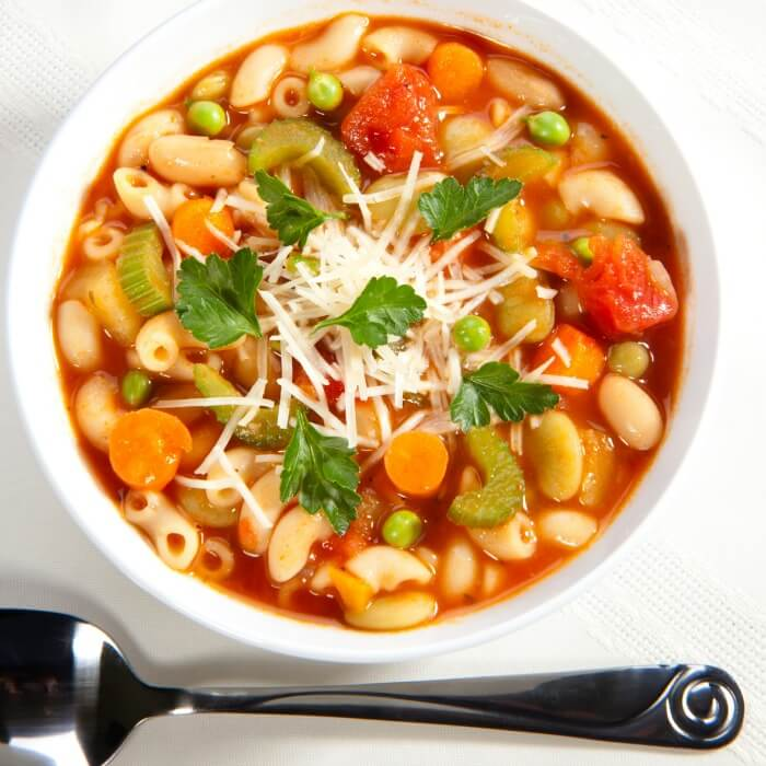 Chicken Minestrone with pasta, beans and seasonal vegetables @allourway.com