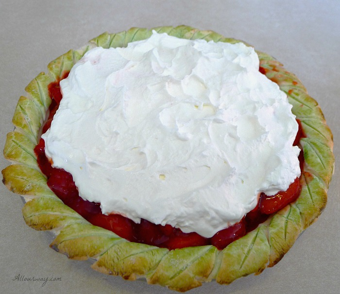 ... Menu with Strawberry Pie with Whipped Cream @allourway.com