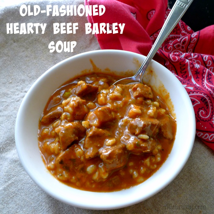 Old Fashioned Beef Barley Soup With Leftover Beef
