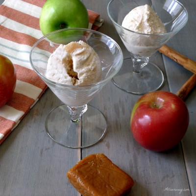 Caramel Apple Pie No-Churn Ice Cream