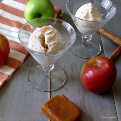 Caramel Apple Pie No-Churn Ice Cream