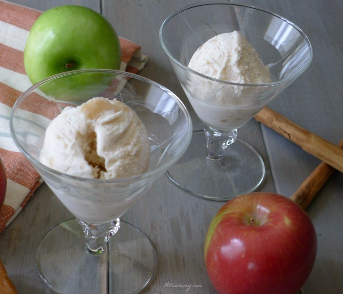Caramel Apple Pie No-Churn Ice Cream made with Apple Pie Filling @allourway.com