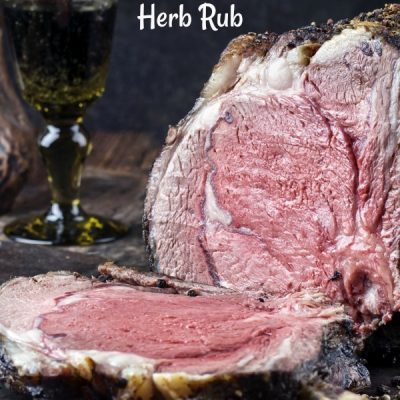 Incredibly Tender Dry Aged Standing Rib Roast With Herb Rub