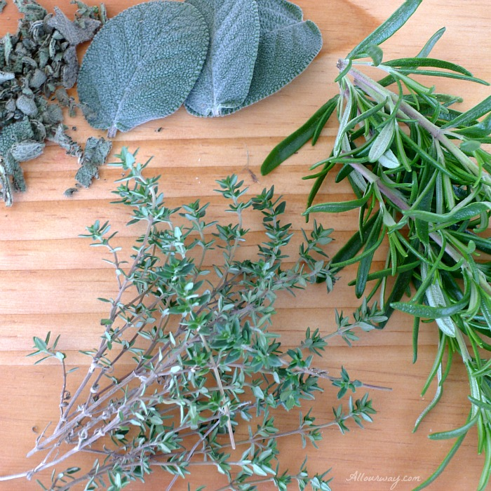 Fresh Herbs for the Grilled Marinated Swordfish Italian Style @allourway.com