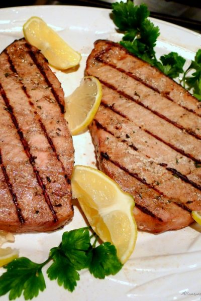Grilled Marinated Swordfish Italian Style – All Our Way
