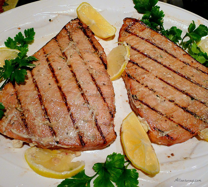 Grilled Marinated Swordfish Italian Style with fresh herbs @allourway.com