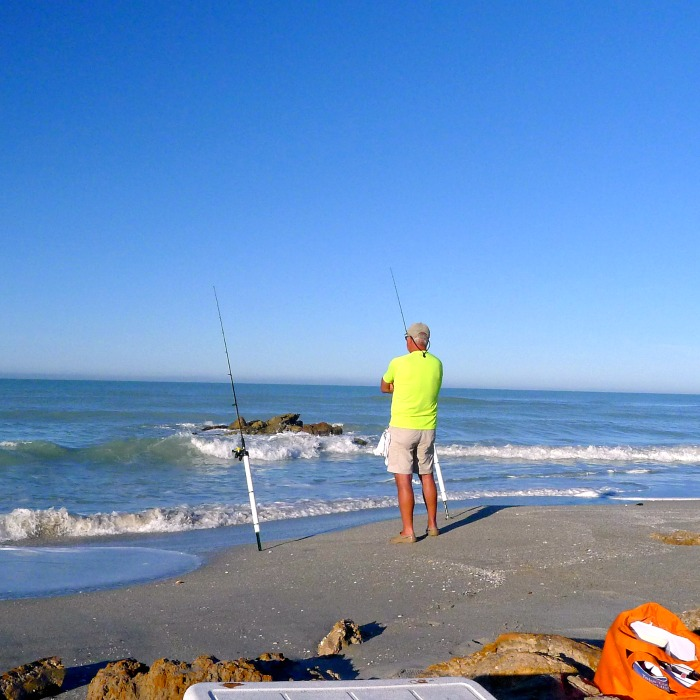 Honey at Caspersen Beach, Venice Florida fishing @allourway.com