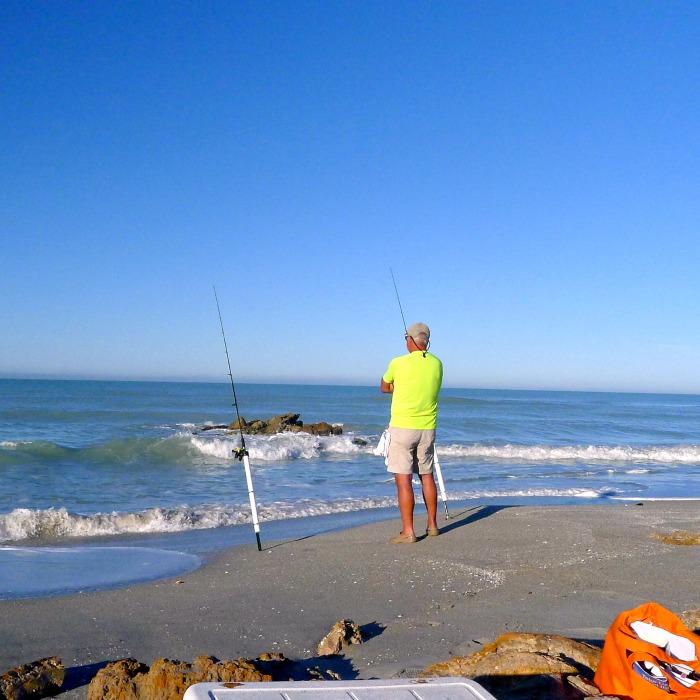 Honey at Caspersen Beach, Venice Florida fishing @allourway.com