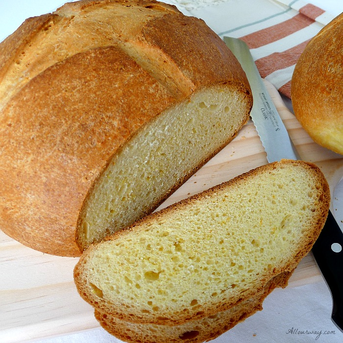 Pinza triestina is an orange flavored brioche type Italian bread can be eaten any time of day. @allourway.com