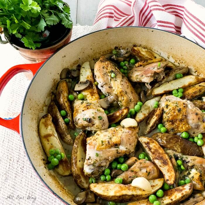 The Ultimate Chicken Vesuvio with Mushrooms