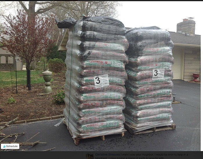 Mulch pyramid to be spread before making the Honey Soy Garlicky Baked Chicken Thighs @allourway.com