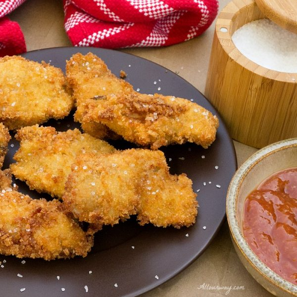 Crunchy Panko Deep Fried with Tangy Cocktail sauce @allourway.com