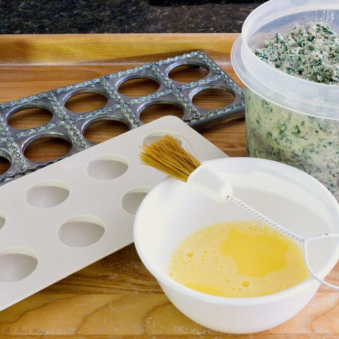 Spinach Ricotta Beef Ravioli Filling Recipe is very versatile and can be used as a filling for other pasta dishes @allourway.com