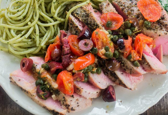 Southern Italian Grilled Tuna Steaks