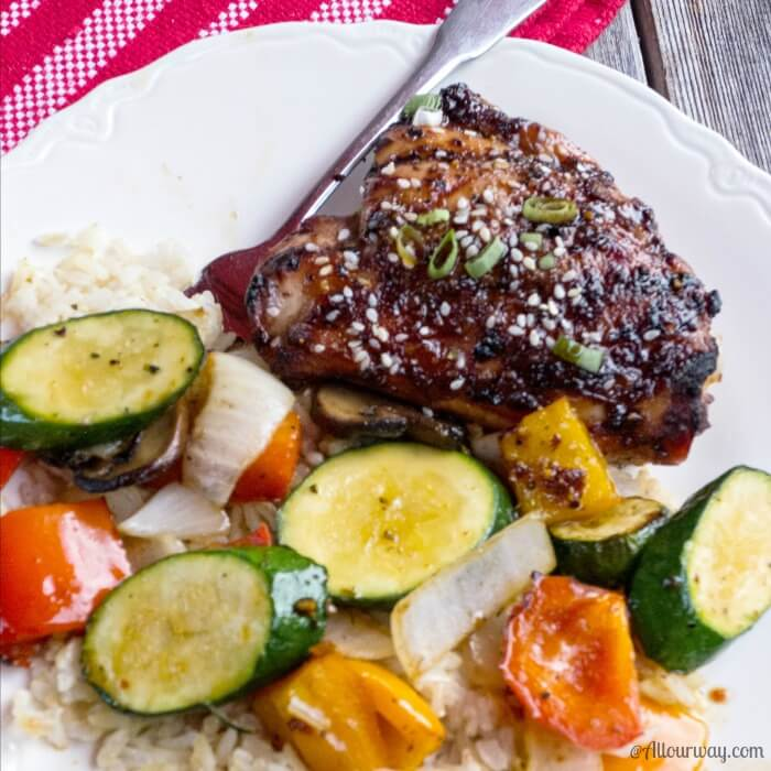 Amazing Blazing Asian Grilled Chicken Thighs