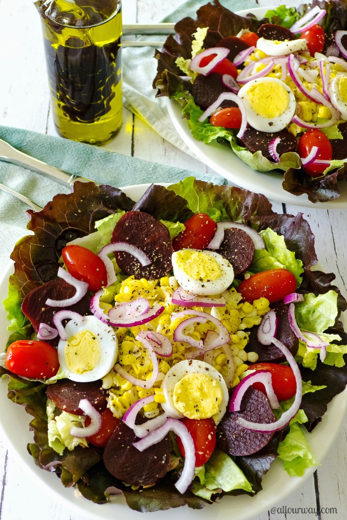 Unbeatable Beet Salad with Hickory Balsamic Dressing @ allourway.com