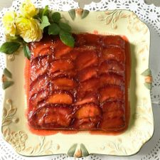 Italian Plum Cake with Tantalizing Plum Glaze an upside down buttery cake studded with plums @ allourway.com