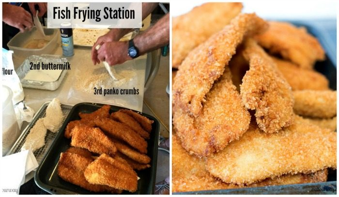 Fish Frying Station at the Birthday fish fry @allourway.com