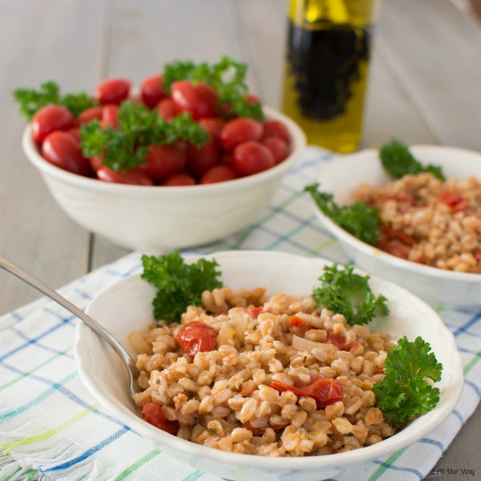 One-Pan Italian Farro with Tomatoes @ All Our Way