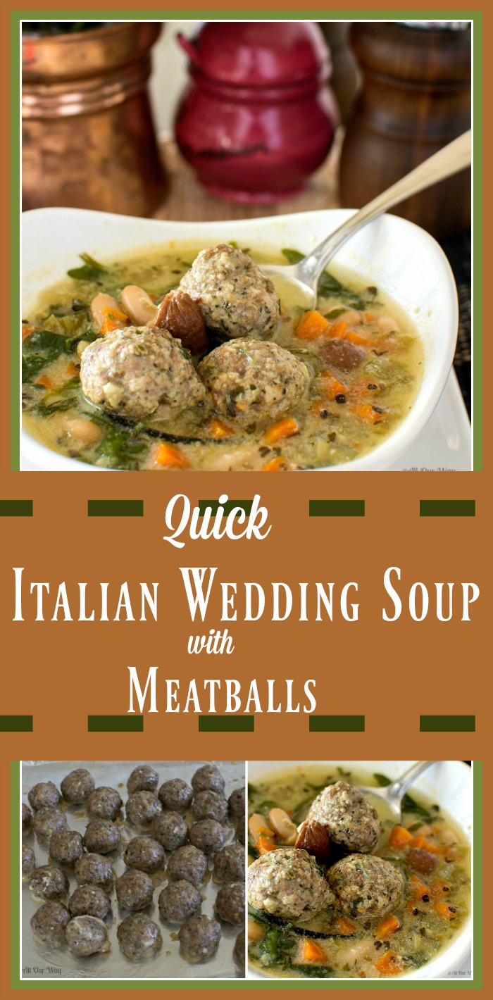 Quick Italian Wedding Soup with Meatballs Minestra Maritata