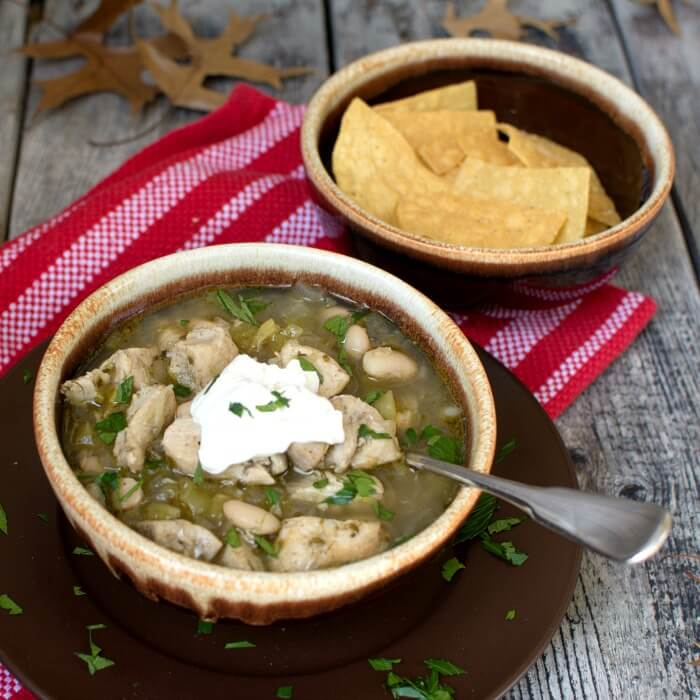 Wickedly Good Spicy White Chicken Chili with Lime and Cilantro @allourway