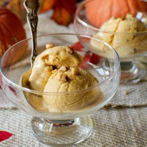Toasted Pecan Pumpkin Ice Cream an Easy no-churn recipe @allourway.com