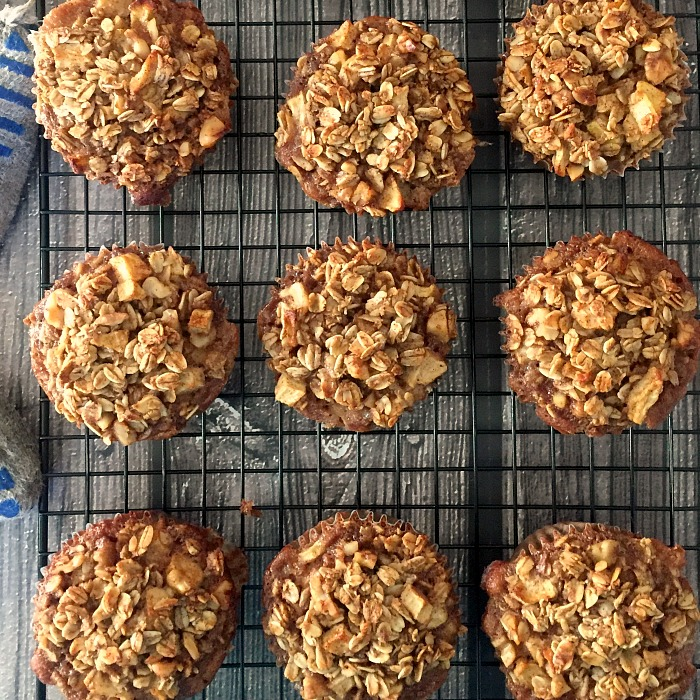 Cinnamon Apple Breakfast Oatmeal Muffins are cooling @allourway.com