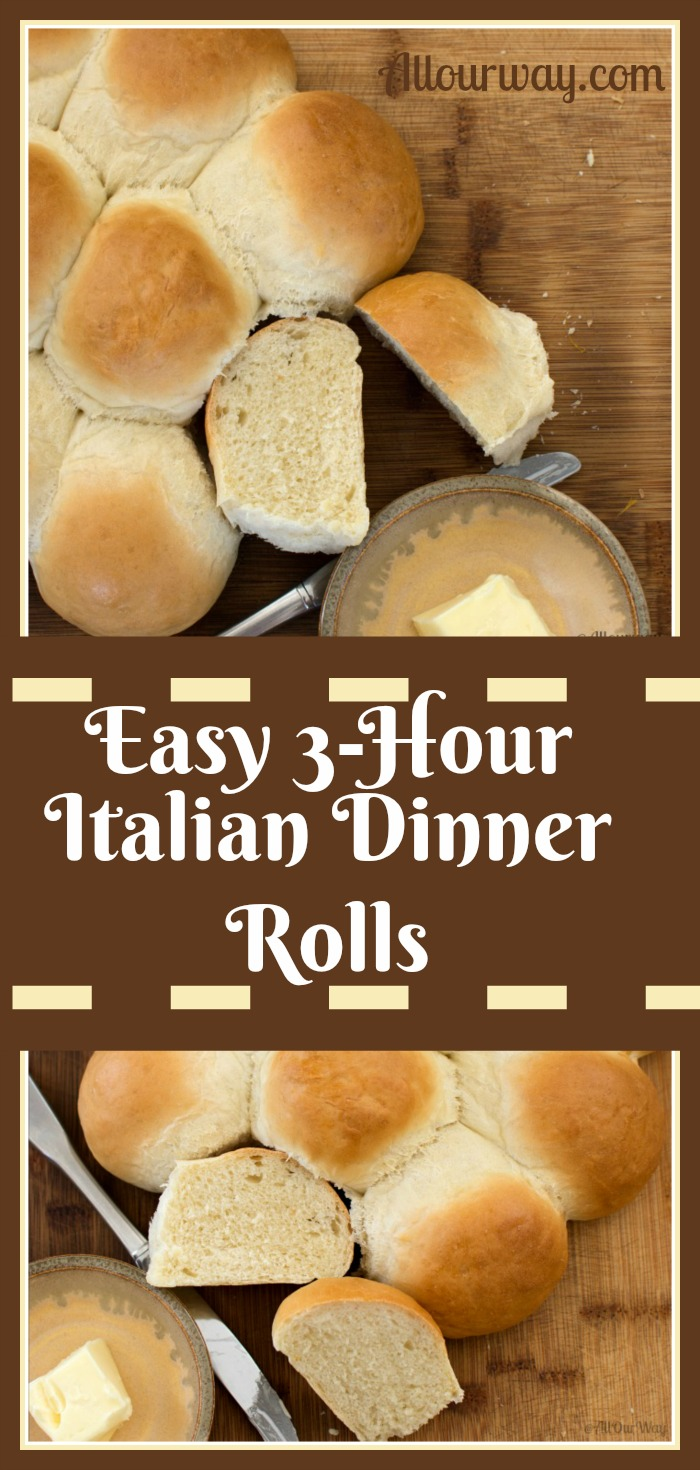 Easy 3-Hour Italian Dinner Rolls Feathery Light and Delicious @allourway.com