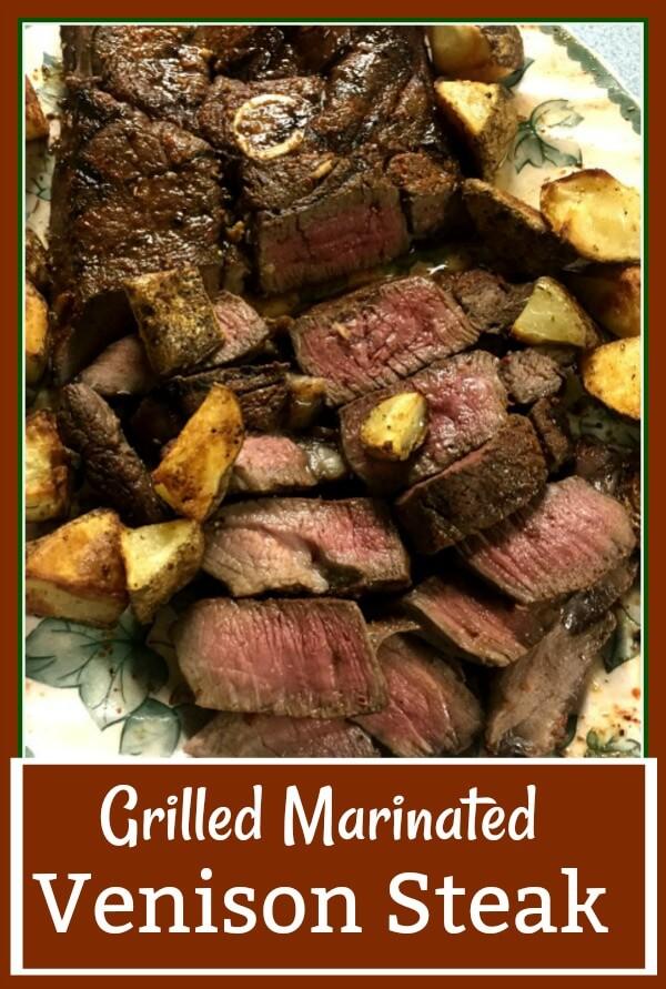 Grilled Marinated Venison Steak