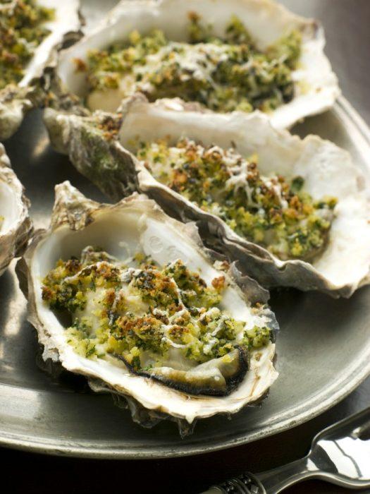 Oysters Rockefeller Italian Style in restaurant @allourway.com