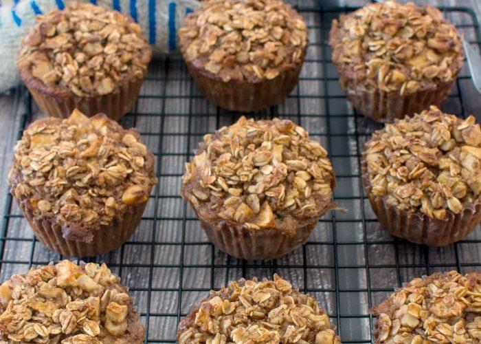 Cinnamon Apple Oatmeal Breakfast Muffins are an energy boost @allourway.com
